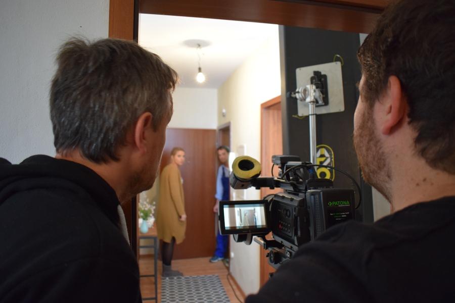 Claus und Markus hinter der Kamera
